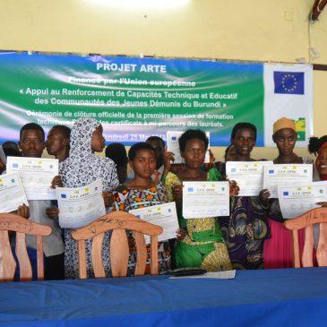 Projet ARTE : Des attestations pour couronner quatre mois de formation professionnelle et technique