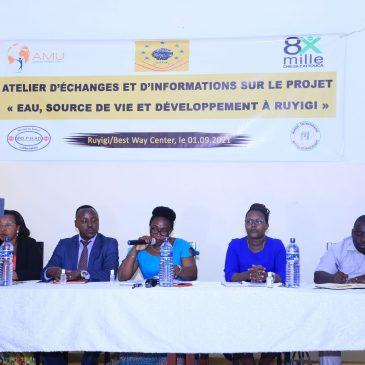 Projet « Eau, source de vie et développement à Ruyigi » : la collaboration au cœur de la mise en œuvre du projet